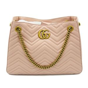 Gucci Marmont Matelasse Quilted Tote Perfect Pink